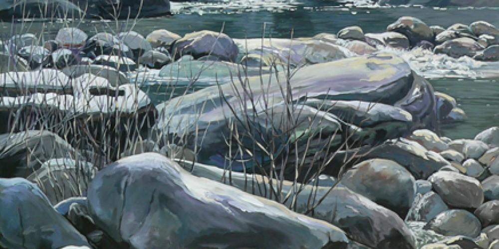 Rocks! Painting from photo taken just inside Sequoia National Park. – Nadi Spencer