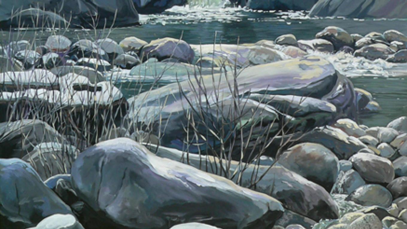 Rocks! Painting from photo taken just inside Sequoia National Park. – Nadi Spencer