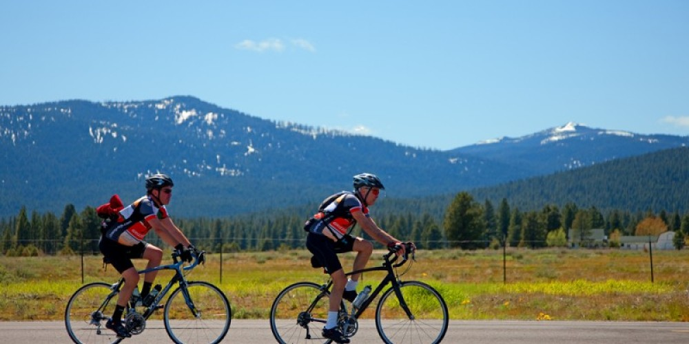 Tour de Manure brings large numbers of bicyclists from all over the state. This bicycle race starts and ends in Sierraville – Darby Hayes