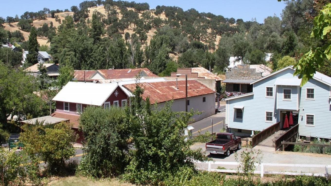 View of Amador City from the house on God's Hill – Christine Gustafson