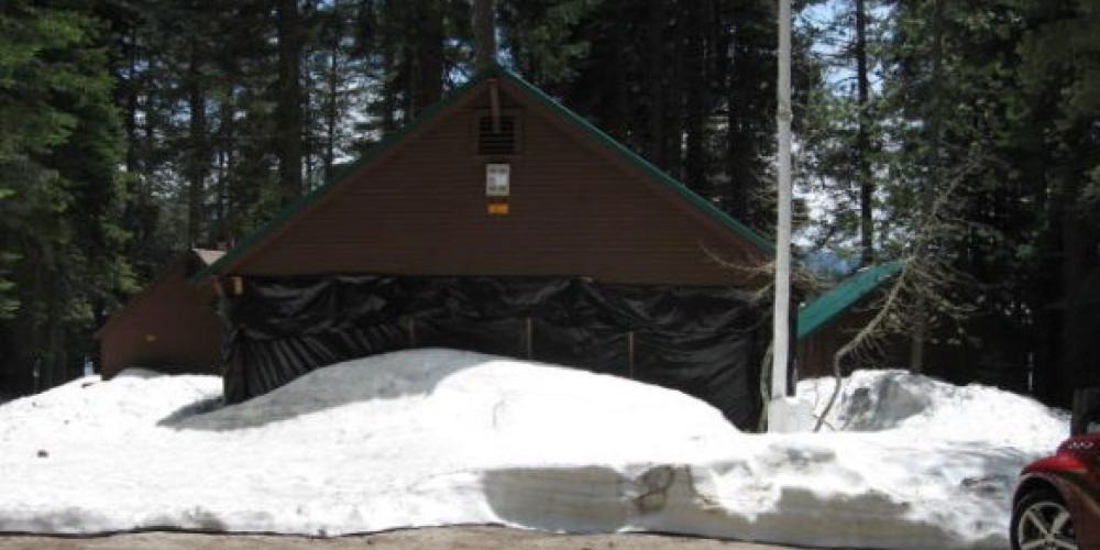Billy Creek Museum in snow showing all three buildings – Eugene Dunsmore
