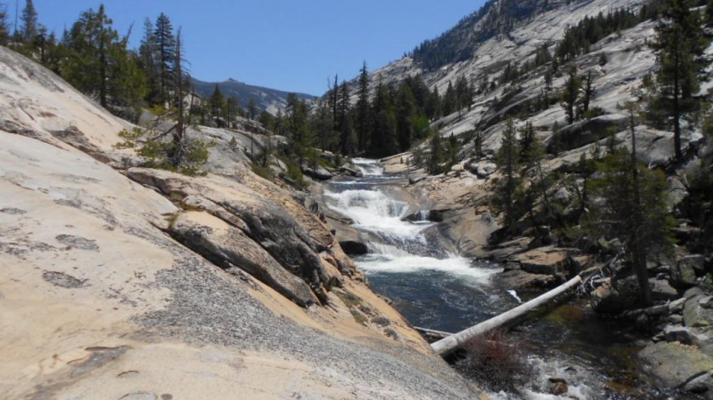 On the trail to Merced Lake from Sunrise High Sierra Camp