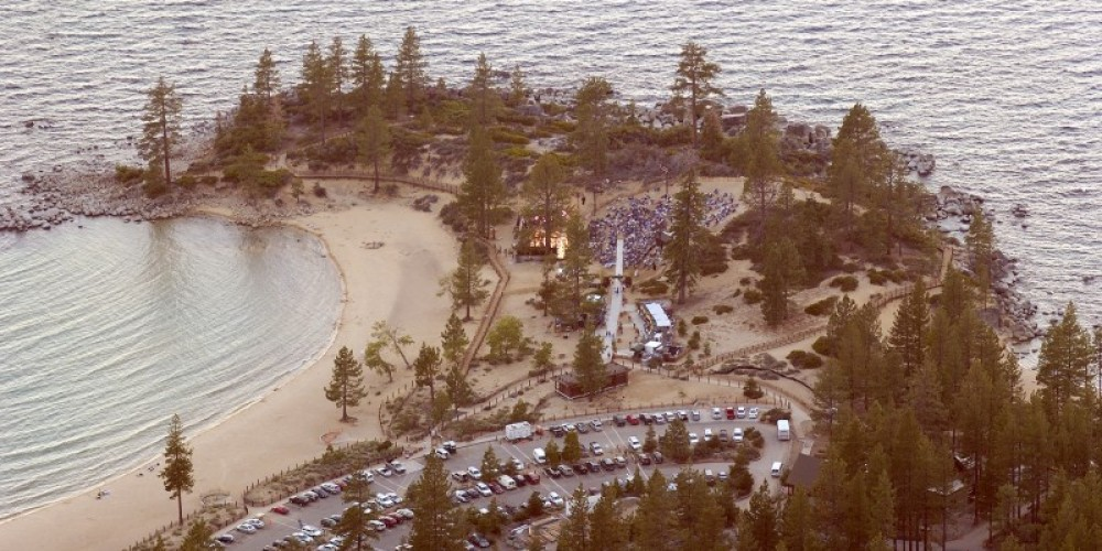 Aerial View of Sand Harbor
