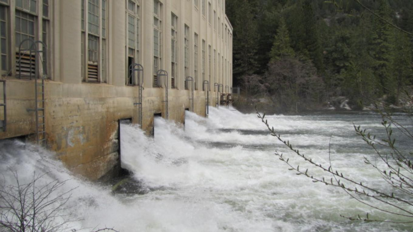 View of outflow from John E. Bryson Powerhouse – Southern California Edison