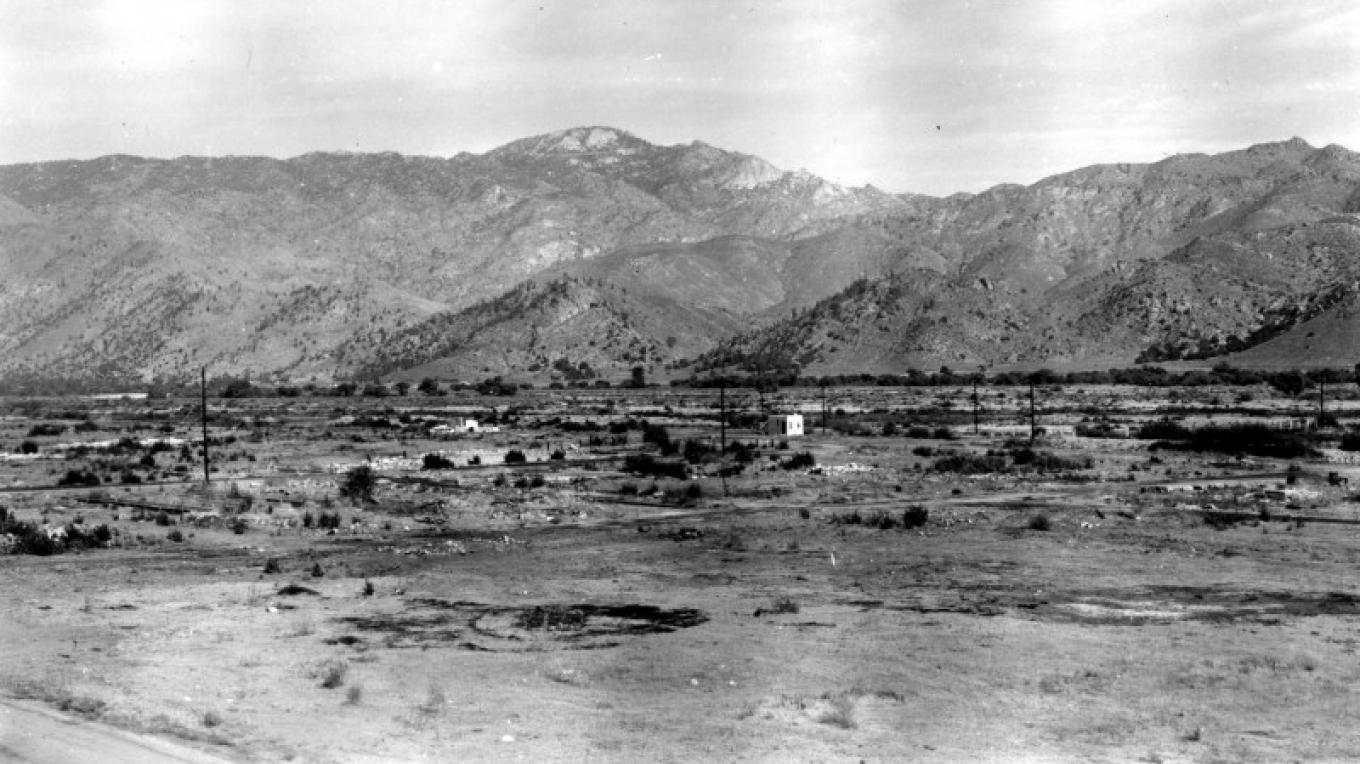 Old Kernville, 1953. Nothing left but the old jail – unknown