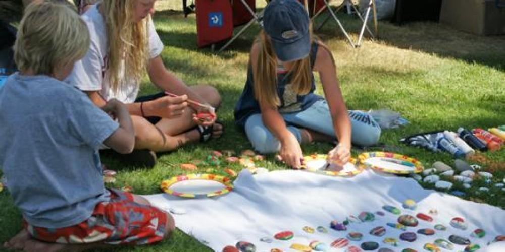 Kids with painted rocks – Teri R.