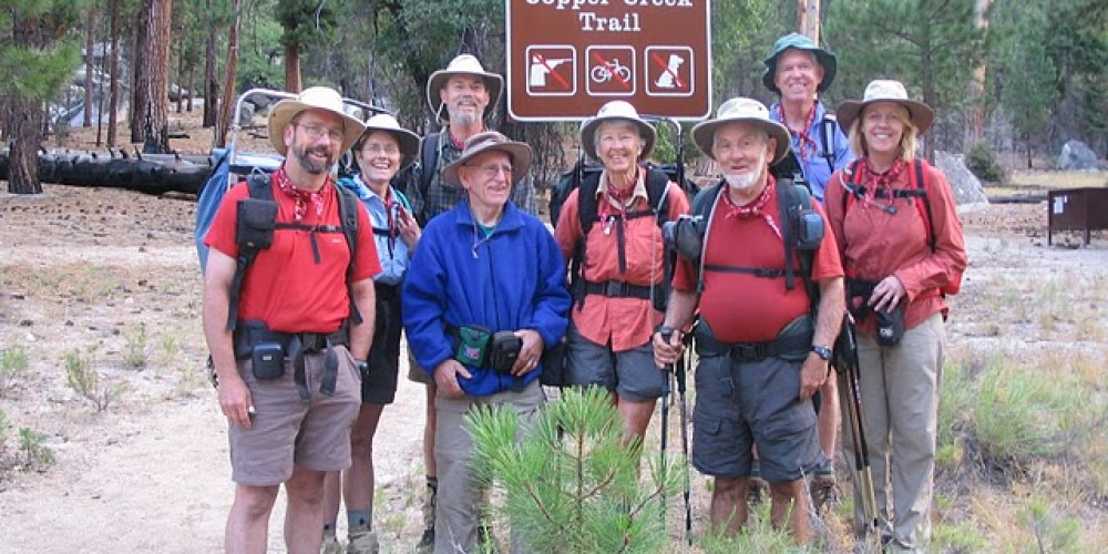 Field seminar heading out on the trail – Provided by Sequoia Natural History Assc