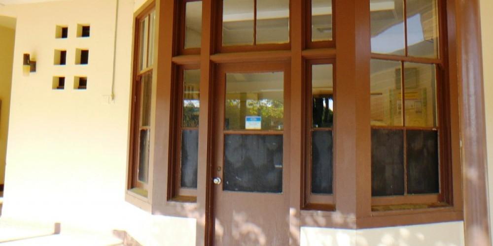 Nurses office Auberry Elementary School also has pull chain water closet restrooms – Susan Leeper