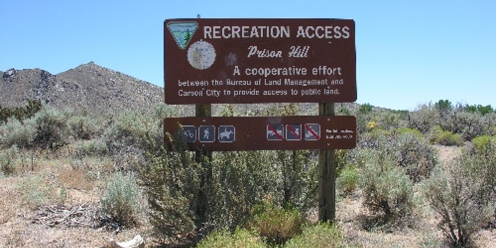 Sign at the entrance. – BLM