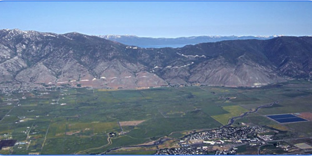 Looking west over the Carson Valley towards Lake Tahoe. – Whit Landvater