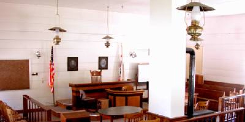 An interior view of the Mariposa County Courthouse – www.mariposahotel.us