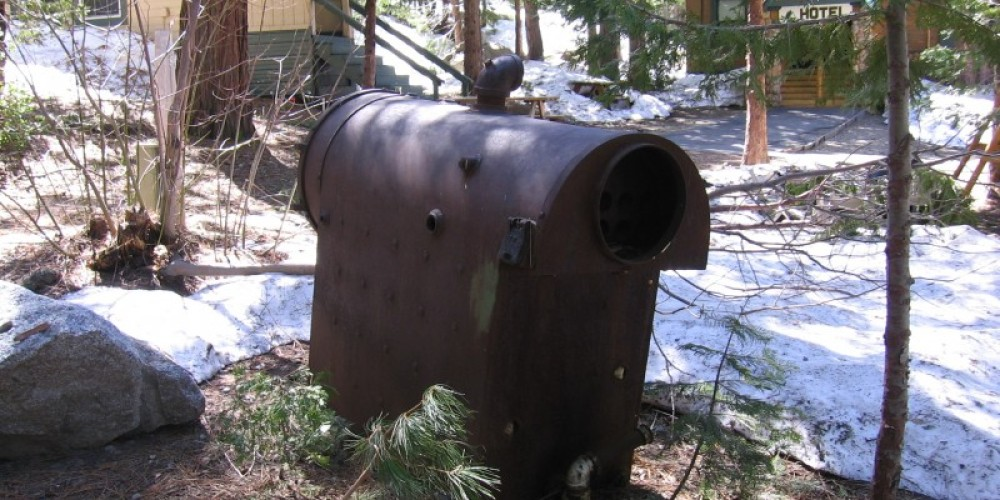 Old boiler used to melt away accumulating snow