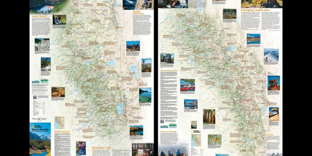 The double-sided print map when unfolded is 26 x 38 inches in size. – National Geographic Maps