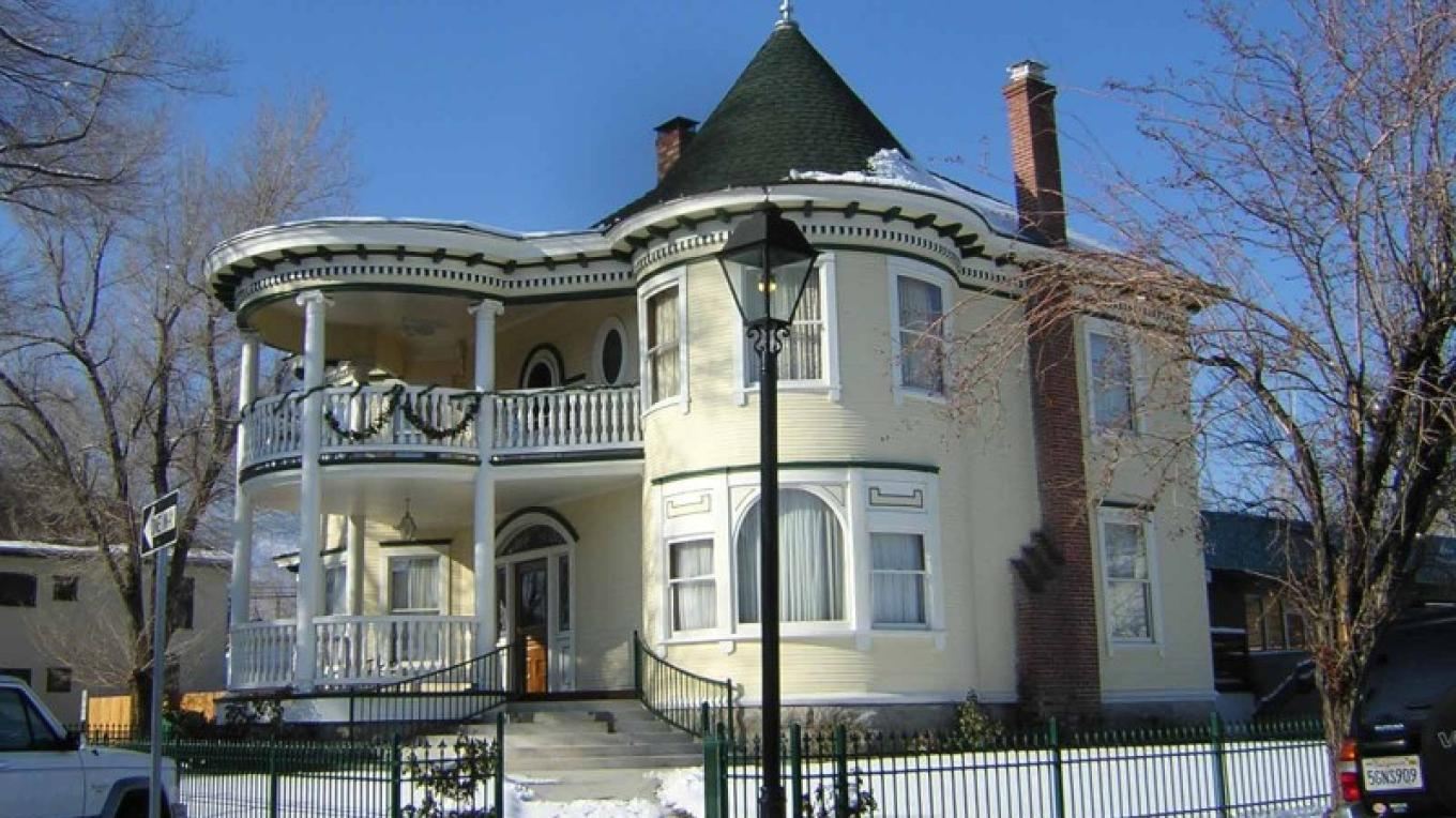 Historic homes such as the 1904 Brougher-Bath house are Kit Carson Trail attractions in downtown Carson City – Carson City Convention & Visitors Bureau.