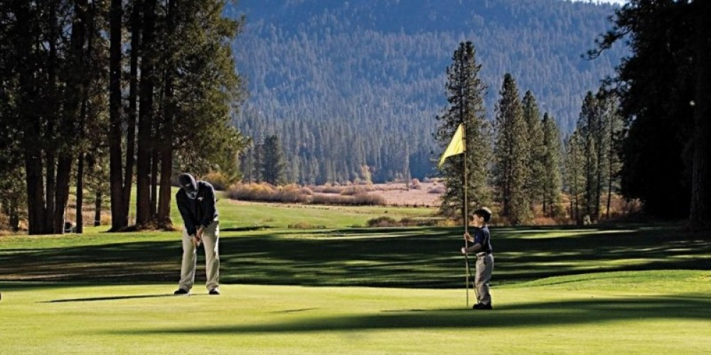 Big Trees Lodge's Golf Course, an Audobon certified sanctuary and the oldest golf course in the Sierra.