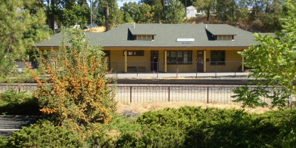 Colfax Depot view from Main Street – Connie Heilaman