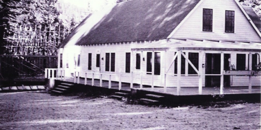 1930's when Eckert Lodge was rebuilt by community