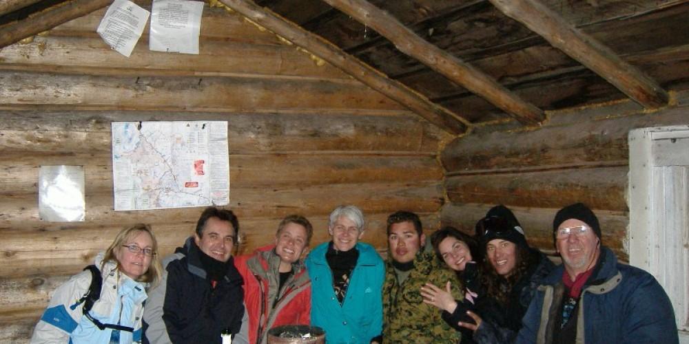 Bald Mtn. Log Cabin Warming Hut - Interior – DJ's Snowmobile Adventures, Inc.