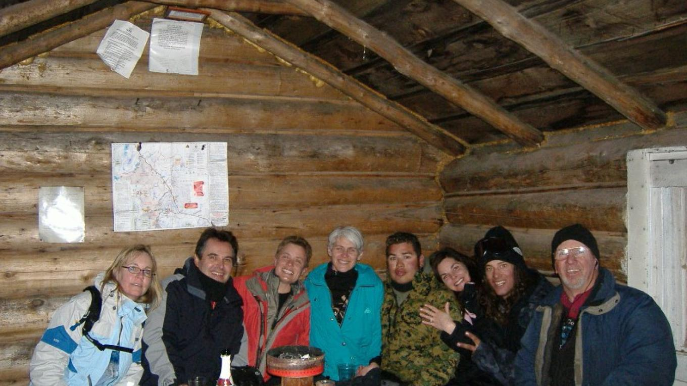Bald Mtn. Log Cabin Warming Hut - Interior – DJ's Snowmobile Adventures, Inc.