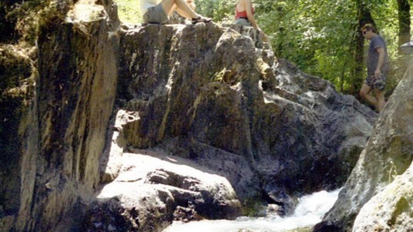 Waterfall on the Middle Fork American River. Side hike on a wilderness 2-3 day trip.