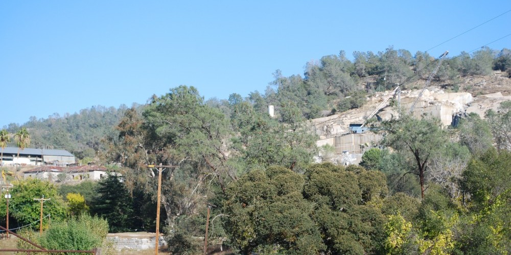 Raymond/Knowles Granite Quarry, operating since the 1890s. The quarry is world famous for Sierra White Granite. – Lynn Northrop