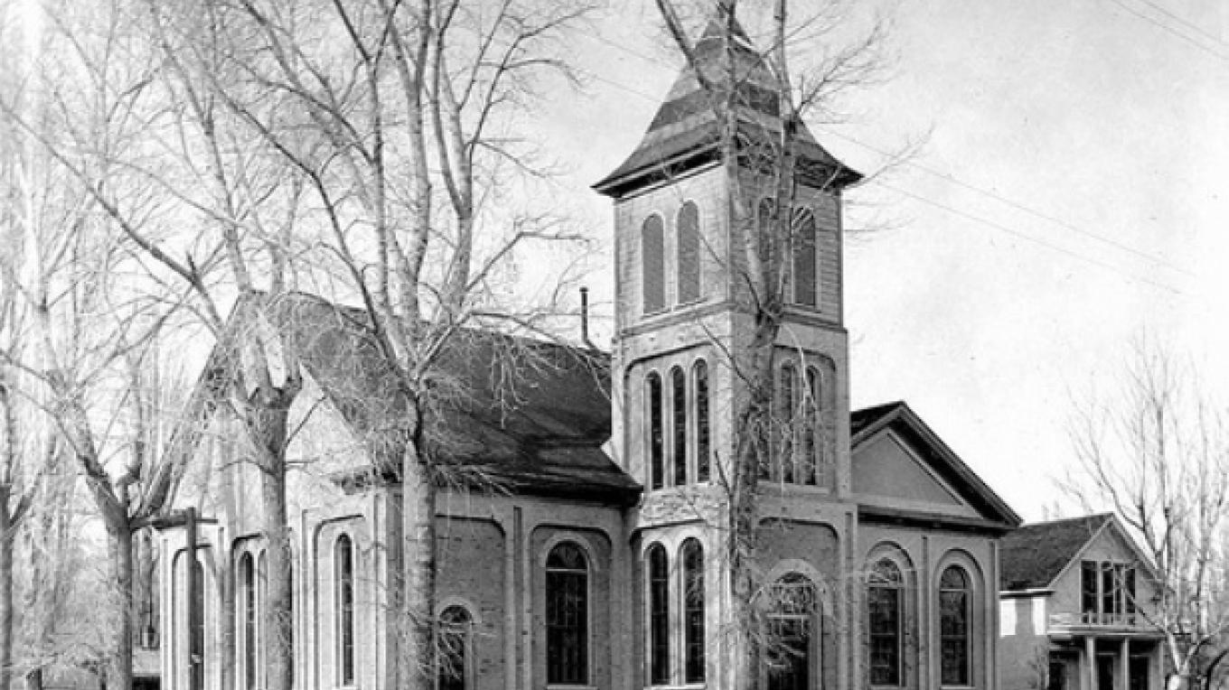 The church in it's glory days. – First Presbyterian