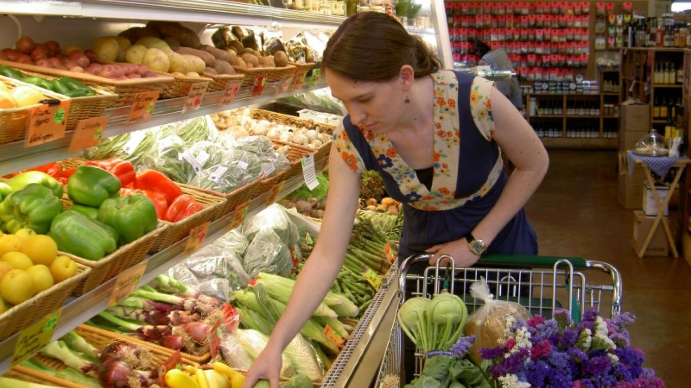 Shopping for local fruits and vegetables at Newcastle Produce. – Jan Thompson
