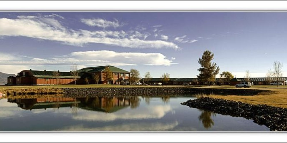 Photo of a pond in front of the resort. – Curtis Rose