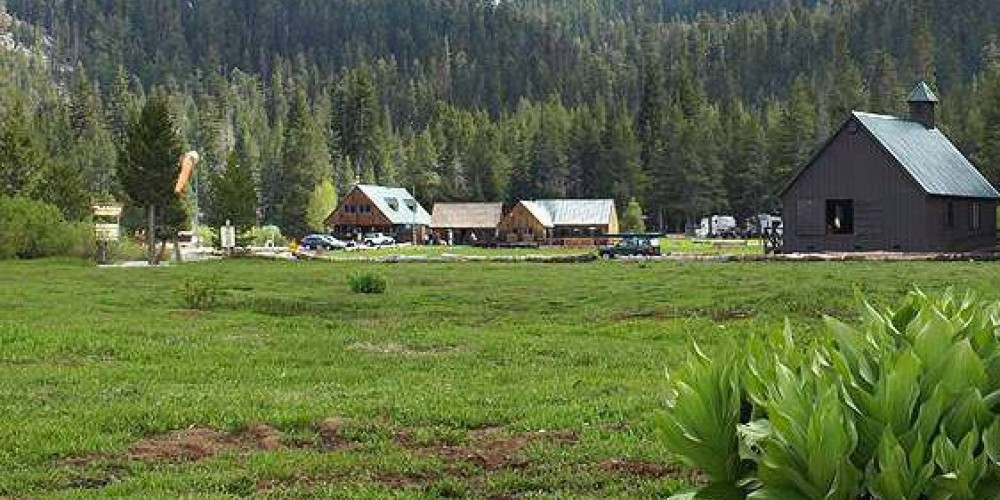 Plasse's Resort is surrounded by rugged volcanic peaks which are playgrounds for hikers, mountain bikers and horse riders. – Plasse's Resort Facebook Page