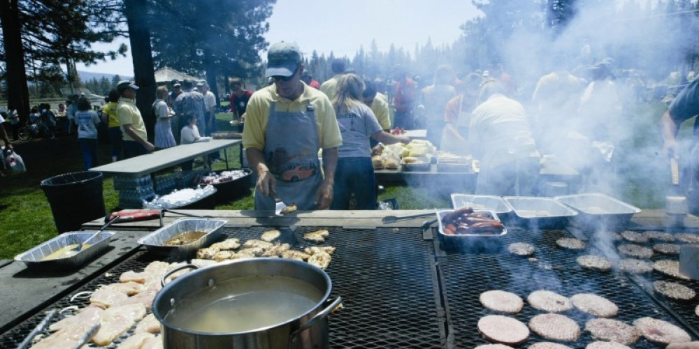 Cooking up lunch at the Town-wide Block Party – Maia Schneider