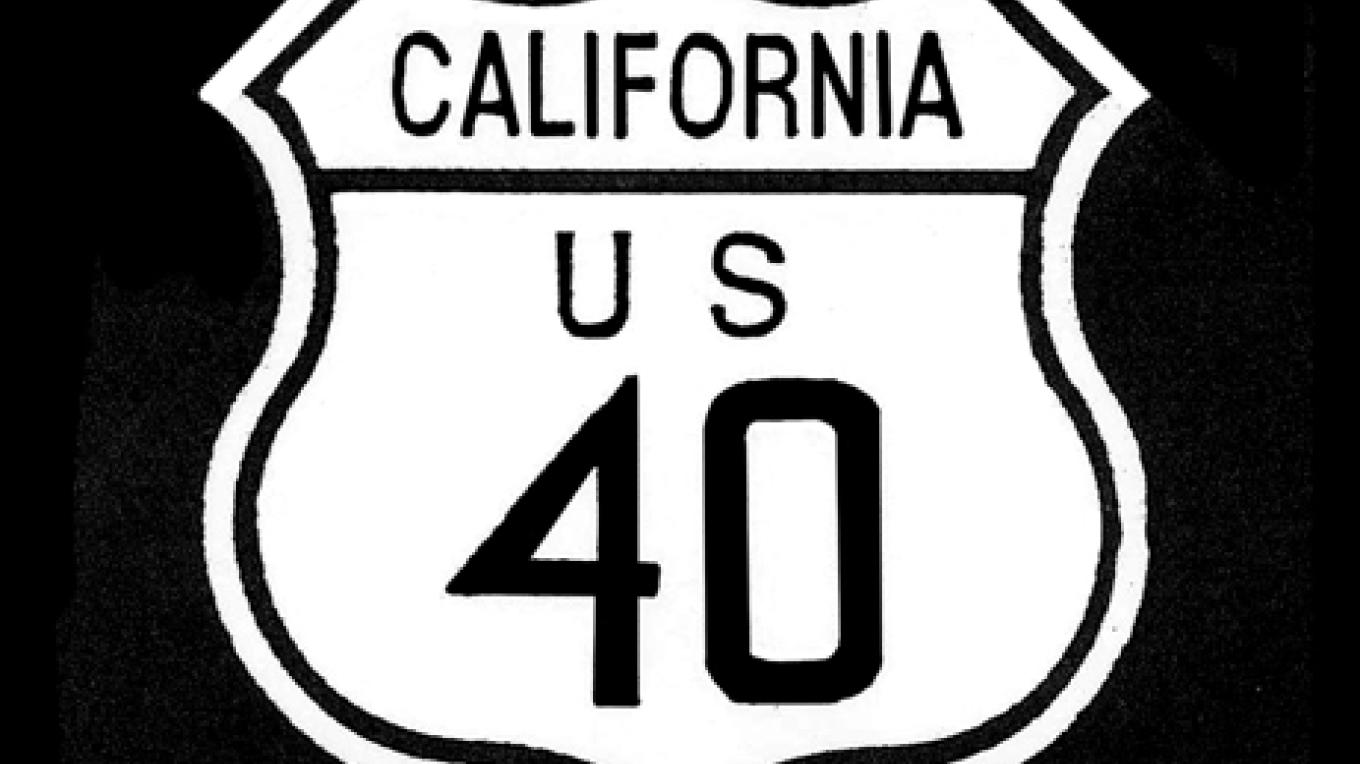 Historic Old Highway 40 sign – Bill Oudegeest