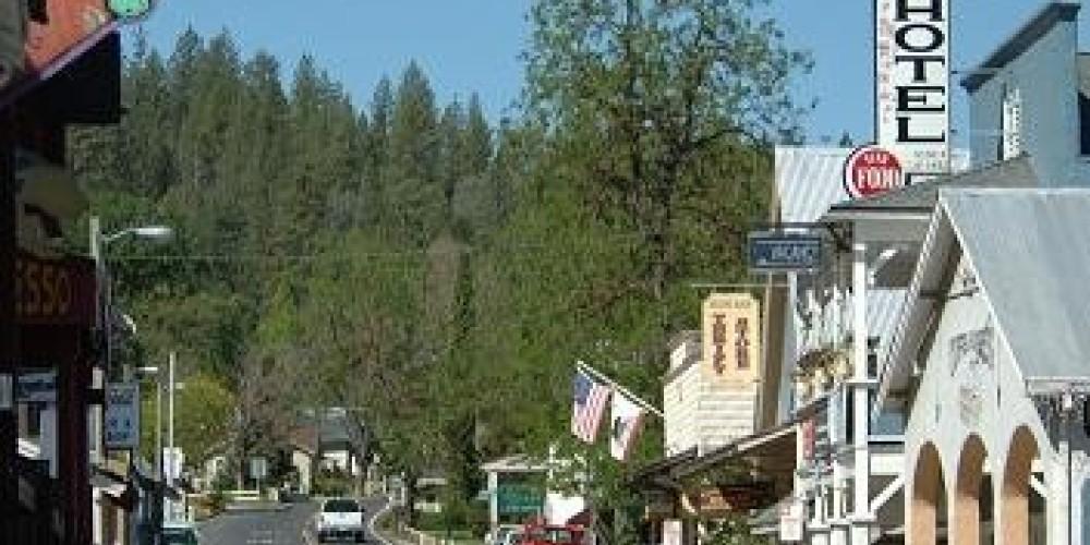 The authentic Gold Rush era town of Groveland near Yosemite