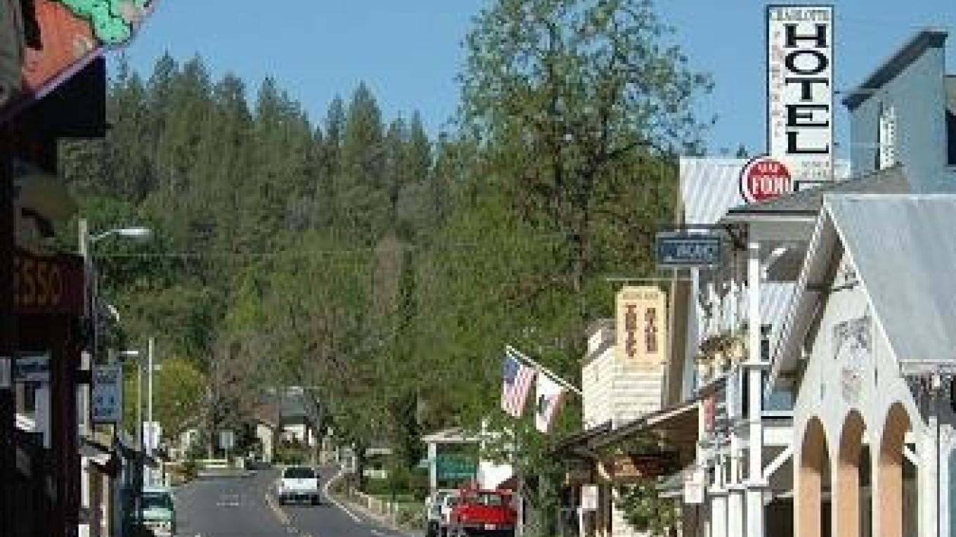 The authentic Gold Rush era town of Groveland near Yosemite