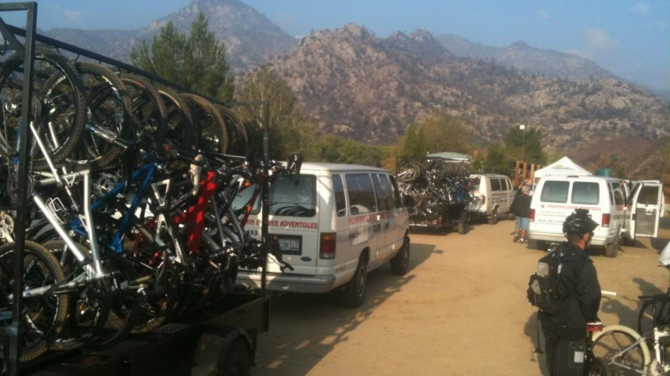 Bikes loaded and off to ride some epic trails. – Mountain & River Adventures