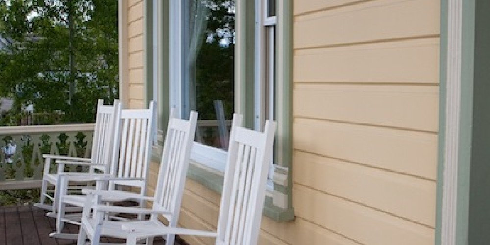 Porch overlooking historic Truckee – Johnstone Studios