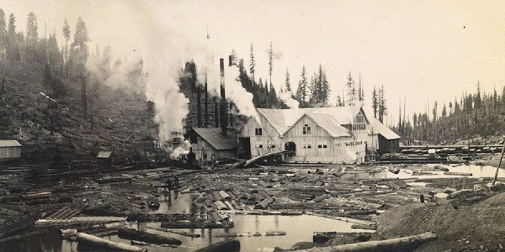 Pino Grande Mill with log pond in foreground, ca 1910 – Photos courtesy Library of Congress and Calif State Library