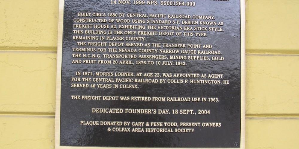 Depot historic marker – David Wiltsee