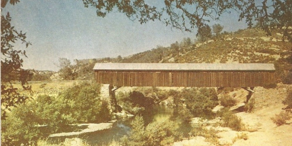 Restored photograph of the old bridge. – Mike Roberts