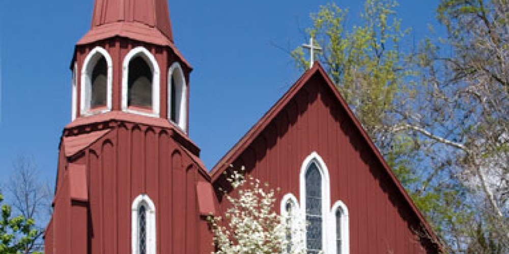 """The """"Red Church"""" of Sonora. The oldest Episcopalian church in California is now a member of the Anglican Diocese. – Website of the Red Church"""