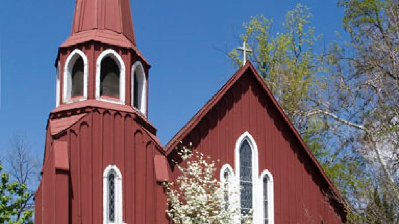 "The ""Red Church"" of Sonora. The oldest Episcopalian church in California is now a member of the Anglican Diocese. – Website of the Red Church"