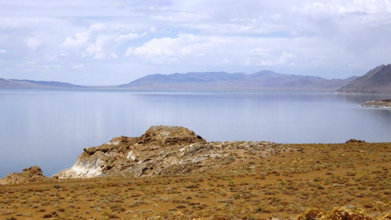 View of Pyramid Lake looking north on a clear day. – Scott H. Carey