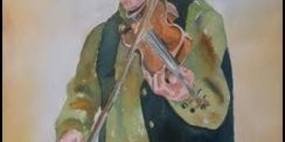 Fiddlin Pete – Water Color By Sam Brown