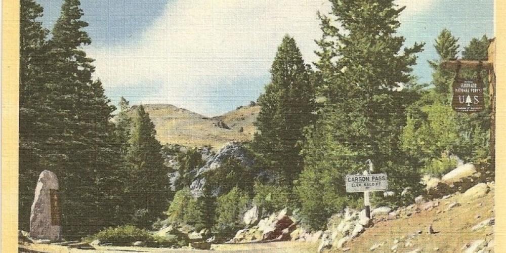 On the Scenic Alpine Highway across the High Sierra (landmark marker on left) – Frashers Foto
