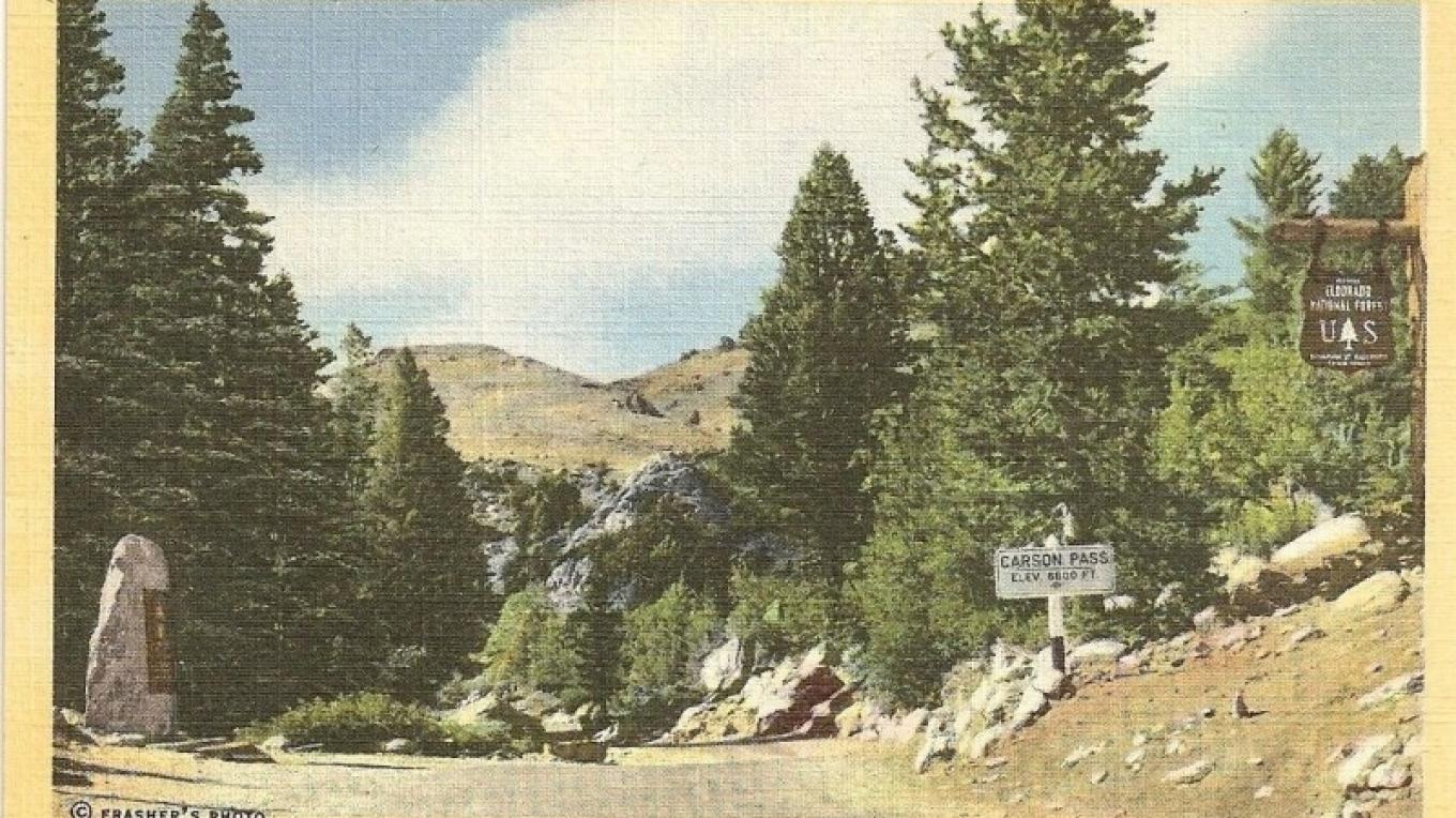On the Scenic Alpine Highway across the High Sierra (landmark marker on left) – Frashers Foto