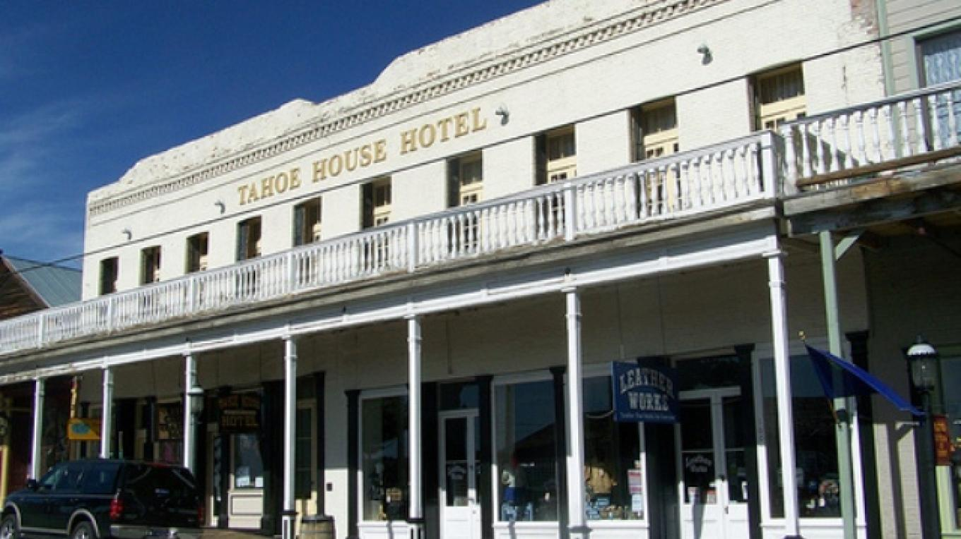 Front of the historic Tahoe House Hotel. – Stewart