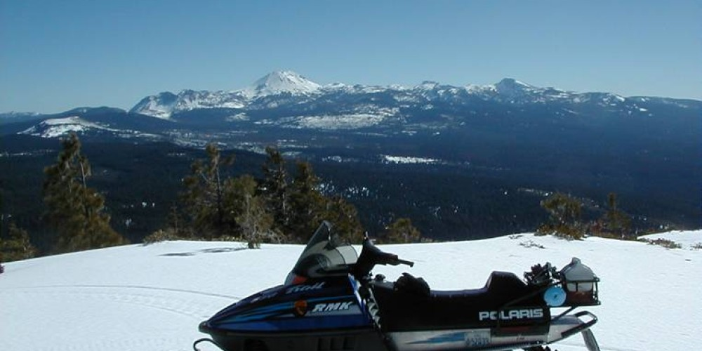 Snowmobiling is popular during the winter at Latour.