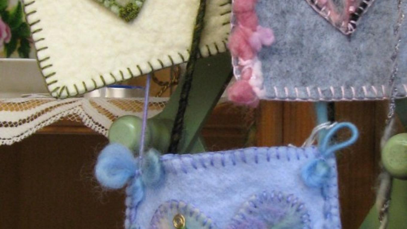 The felted creations come in small, very useful sizes, too. – Karrie Lindsay