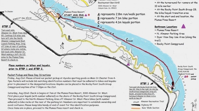 Course Map – https://courageworldwide.org/couragerun/triathlon/triathlon-course/