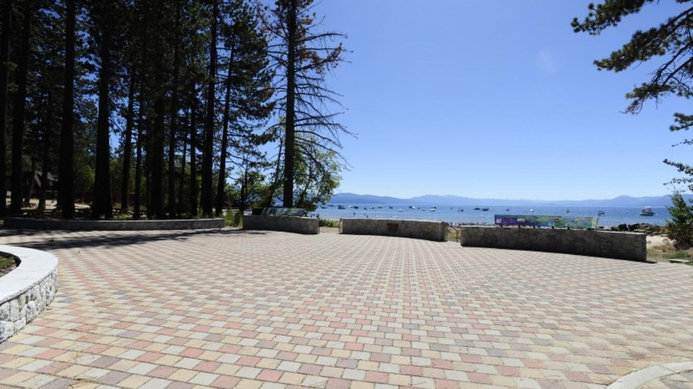 The Plaza at Tahoe Vista Recreation Area is a great place for a picnic, weddings or family reunion. – Court Leve