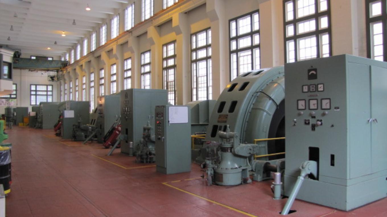 View of generator floor at John E. Bryson Powerhouse – Southern California Edison